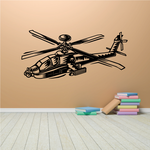 Graphic Apache Helicopter Decal