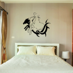 Tribal Motif and Three Horses Decal