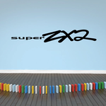 Super 2x2 Wall Decal - Vinyl Decal - Car Decal - Business Sign - MC572