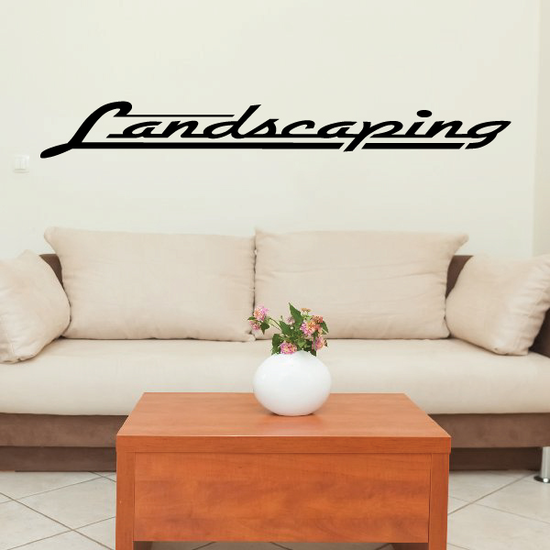 Landscaping Wall Decal - Vinyl Decal - Car Decal - Business Sign - MC574