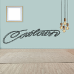 Cowtown Wall Decal - Vinyl Decal - Car Decal - Business Sign - MC575