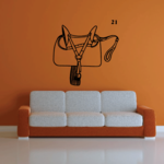English Horse Saddle Decal