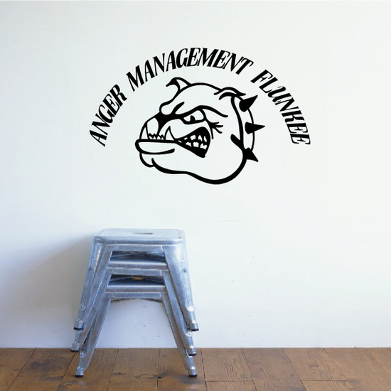 Anger Management Flunkee Bulldog Decal