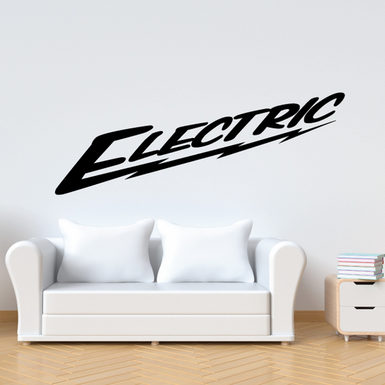 Electric Wall Decal - Vinyl Decal - Car Decal - Business Sign - MC577