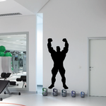 Weightlifting Wall Decal - Vinyl Decal - Car Decal - 013
