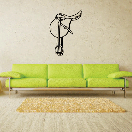 Grand Horse Jumping Saddle Decal