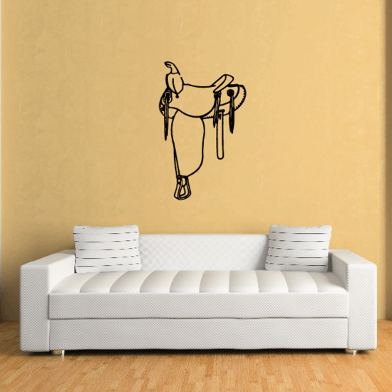 Trail Horse Saddle Decal
