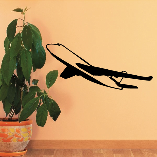 Large Airliner Flying Decal