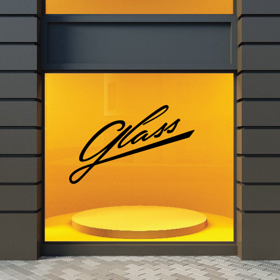 Glass Wall Decal - Vinyl Decal - Car Decal - Business Sign - MC582