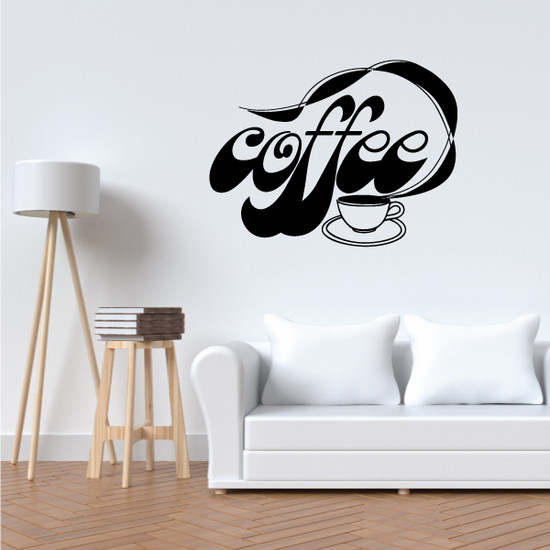 Coffee Wall Decal - Vinyl Decal - Car Decal - Business Sign - MC587