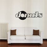 Donuts Wall Decal - Vinyl Decal - Car Decal - Business Sign - MC588