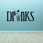 Drinks Wall Decal - Vinyl Decal - Car Decal - Business Sign - MC589