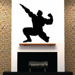 Weightlifting Wall Decal - Vinyl Decal - Car Decal - 025