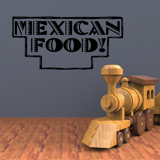 Mexican Food Wall Decal - Vinyl Decal - Car Decal - Business Sign - MC595