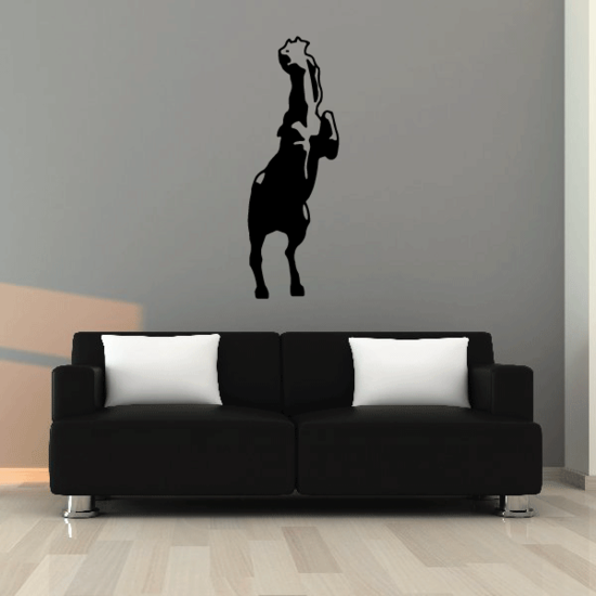 Whinnying Standing Horse Decal