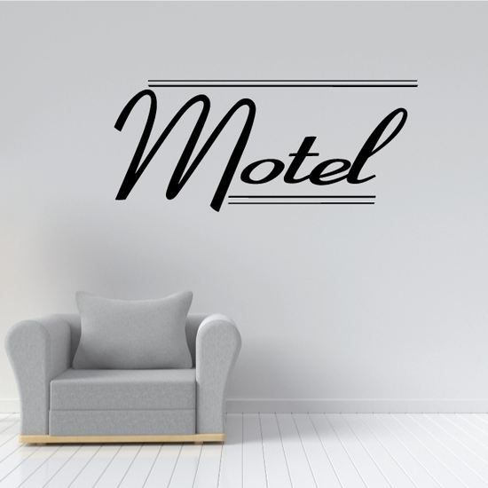 Motel Wall Decal - Vinyl Decal - Car Decal - Business Sign - MC597