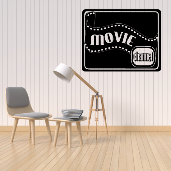 Movie Channel Wall Decal - Vinyl Decal - Car Decal - Business Sign - MC598