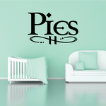 Pies Wall Decal - Vinyl Decal - Car Decal - Business Sign - MC599