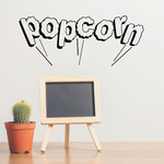 Popcorn Wall Decal - Vinyl Decal - Car Decal - Business Sign - MC600