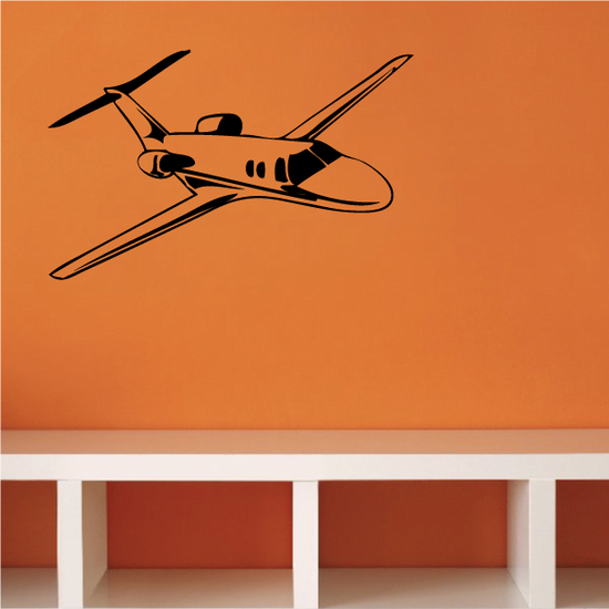 Detailed Private Passenger Plane Decal