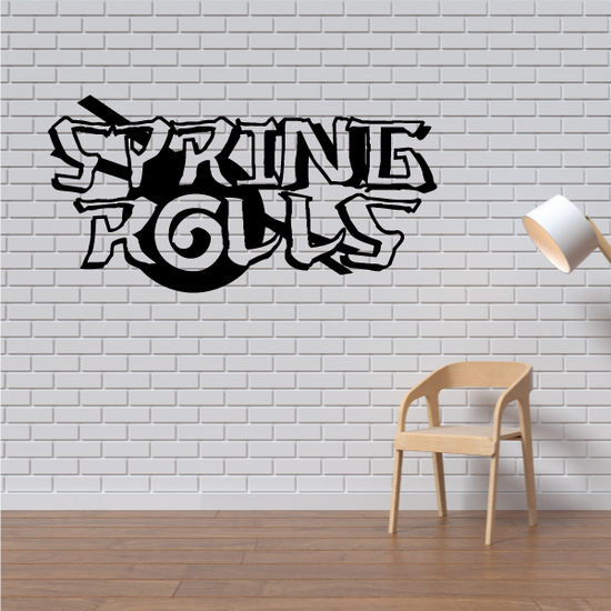 Spring Rolls Wall Decal - Vinyl Decal - Car Decal - Business Sign - MC602