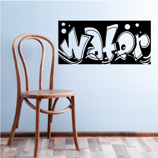 Water Wall Decal - Vinyl Decal - Car Decal - Business Sign - MC605