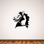 Reigned Horse Head Decal