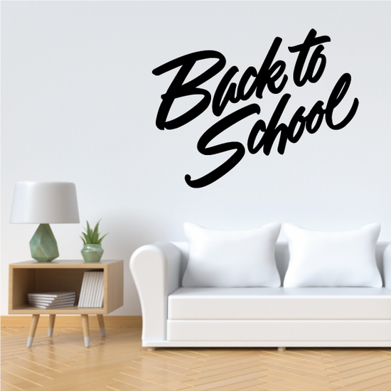 Back to School Wall Decal - Vinyl Decal - Car Decal - Business Sign - MC607