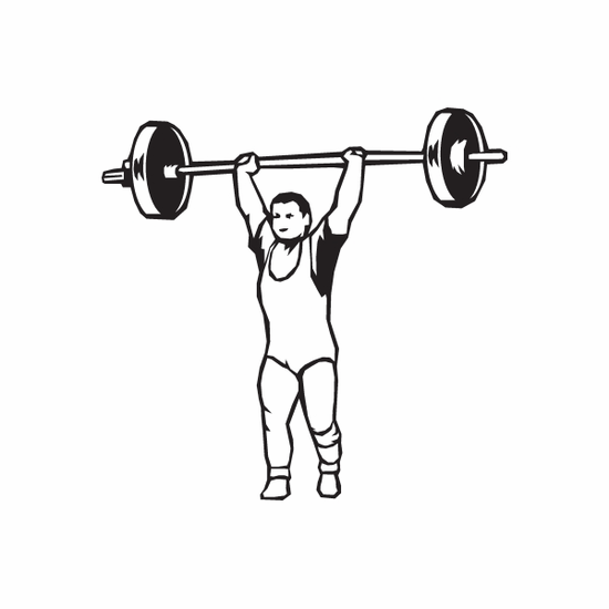 Weight Lifting Wall Decal - Vinyl Decal - Car Decal - DC 001