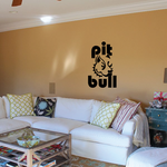 Pit Bull Text Decal