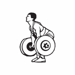 Weight Lifting Wall Decal - Vinyl Decal - Car Decal - DC 004
