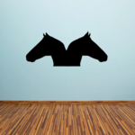 Double Horse Silhouette Decal