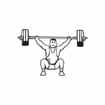 Weight Lifting Wall Decal - Vinyl Decal - Car Decal - DC 005