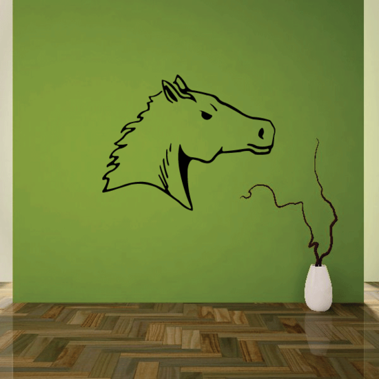 Lifted Horse Head Decal