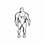 Weight Lifting Wall Decal - Vinyl Decal - Car Decal - DC 006