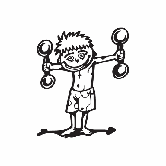 Detailed Weight Lifting Wall Decal - Vinyl Decal - Car Decal - DC 003