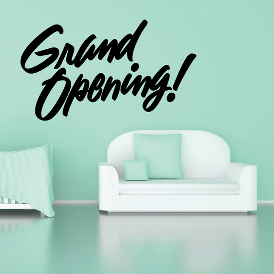 Grand Opening Wall Decal - Vinyl Decal - Car Decal - Business Sign - MC614