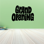 Grand Opening Wall Decal - Vinyl Decal - Car Decal - Business Sign - MC615