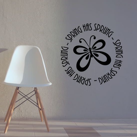 Spring has sprung butterfly Wall Decal
