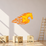Charging Flaming Horse Sticker