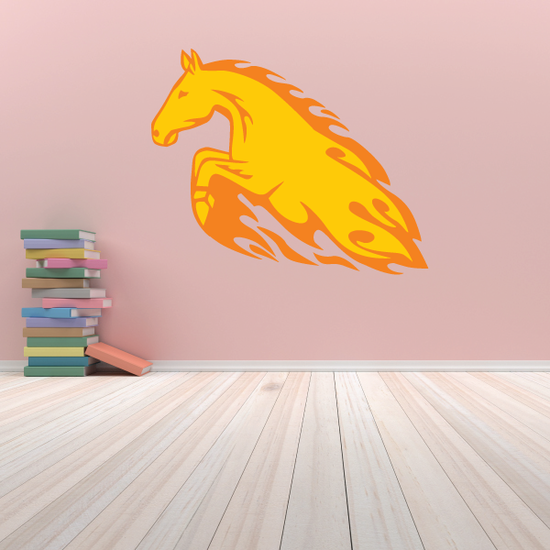 Leaping Fire Horse Sticker