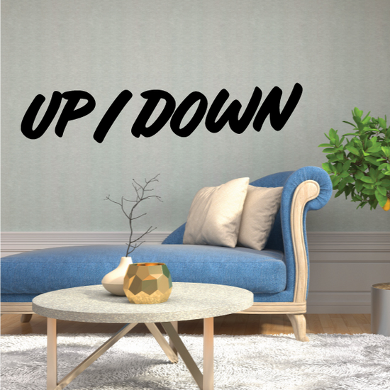 Up/Down Wall Decal - Vinyl Decal - Car Decal - Business Sign - MC625