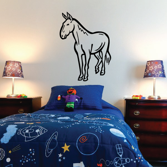 Fjord Horse Looking Decal
