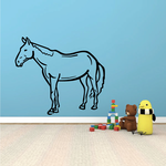 Fjord Horse Standing Decal