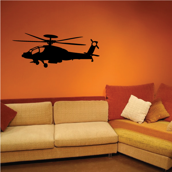 Flying Apache Helicopter Decal