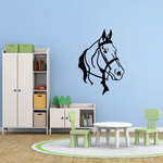 Looking Horse with Reins Decal