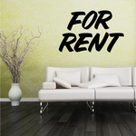 For Rent Wall Decal - Vinyl Decal - Car Decal - Business Sign - MC639