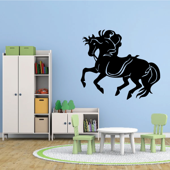Fluffy Mane Horse Decal