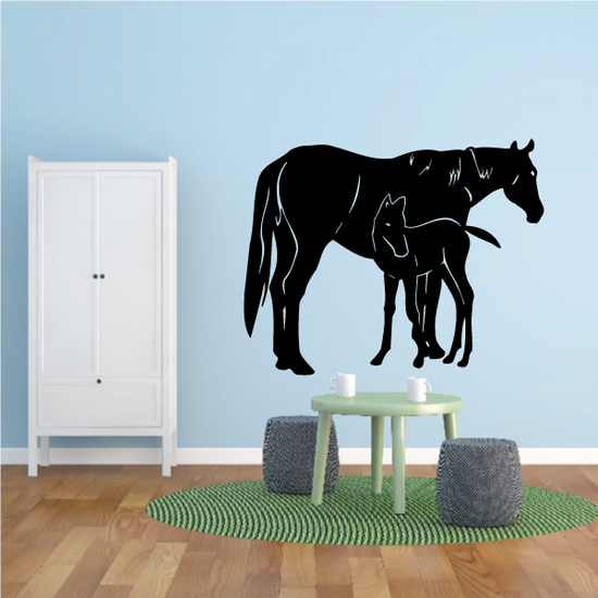 Mom And Foal Horse Decal