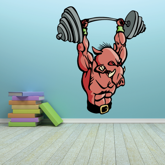 Weight Lifting Wall Decal - Vinyl Sticker - Car Sticker - Die Cut Sticker - CDSCOLOR005